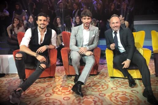 Emanuele Puzzilli con Mariano Di Vaio e Stefano De Martino